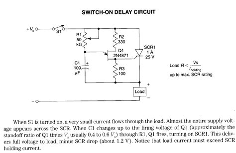 Time Delay Relay Wiring Diagram With Sensor by Radan Electronic Motor Controller Switch On Delay Circuit