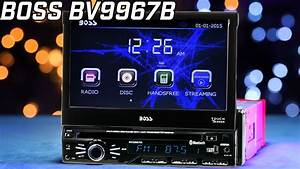 Boss Bv9967b Bluetooth Single Din W   7 U0026quot  Flip Out Monitor