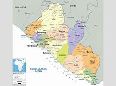 Detailed Political Map of Liberia Ezilon Maps