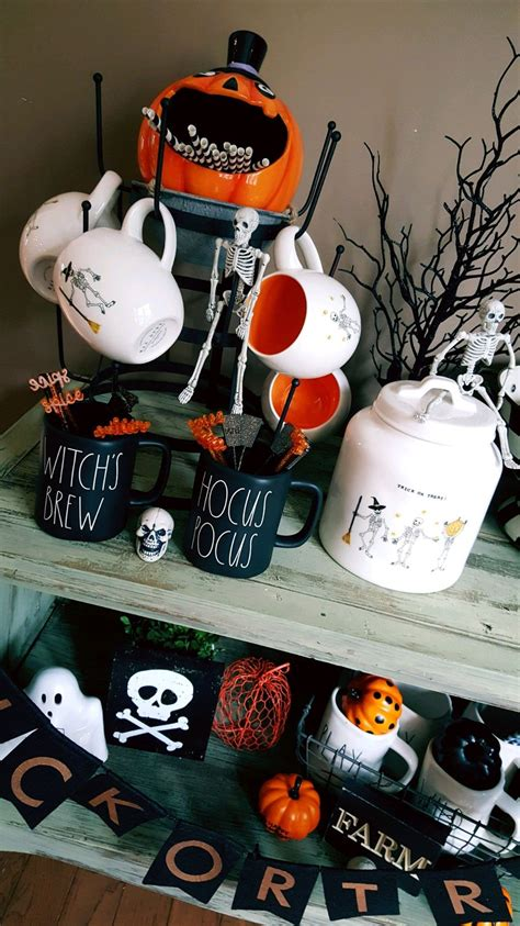 friends amazing rae dunn halloween coffee bar setup