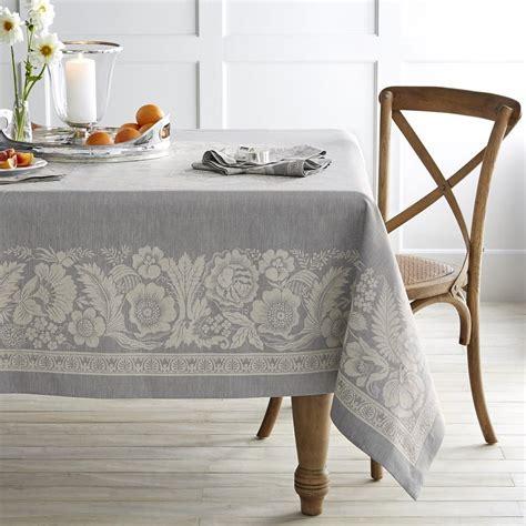 vintage floral jacquard tablecloth williams sonoma au