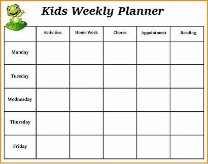 Weekly Planner Calendar Word Template Excel Pdf