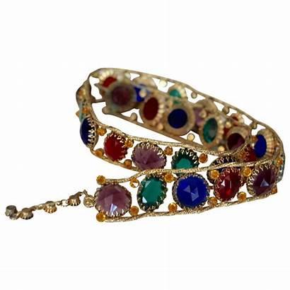 Belt 1960s Jeweled Schreiner Multicolored York Belts