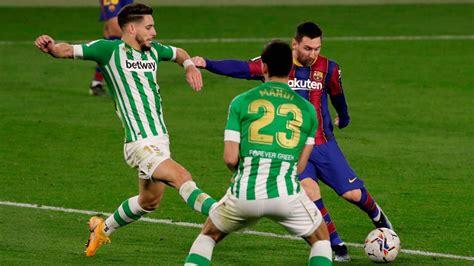 Real Betis vs. Barcelona - Reporte del Partido - 7 febrero ...