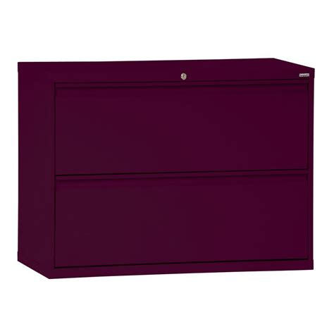 home depot file cabinets sandusky 800 series 36 in w 2 drawer full pull lateral