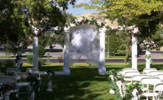 chiffon chair sash wedding backdrops backgrounds decorations columns