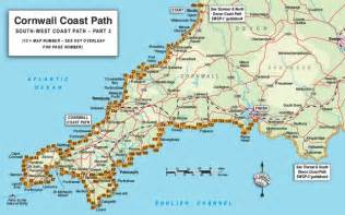 Cornwall England Coast Map