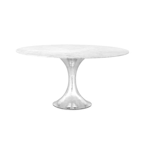hammered metal table l base 60 stone top dining table with hammered metal base
