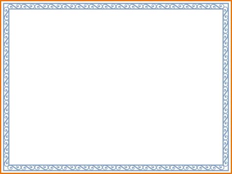 Microsoft Word Border Templates Costumepartyrun