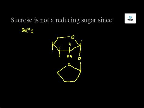 Sucrose Is Not A Reducing Sugar Since