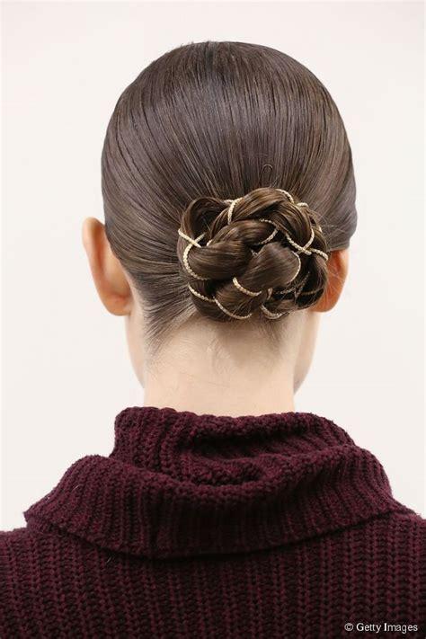 hairstyle accessories braid bun updo   chain