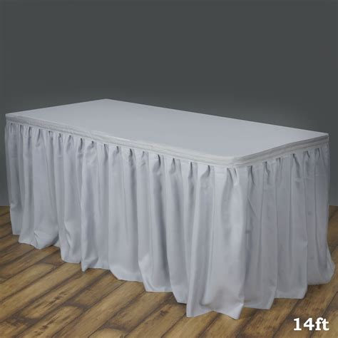 table cloth skirting design 14 foot new polyester table skirt for wedding party