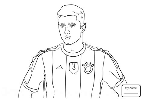 Leonel Messi Free Colouring Pages