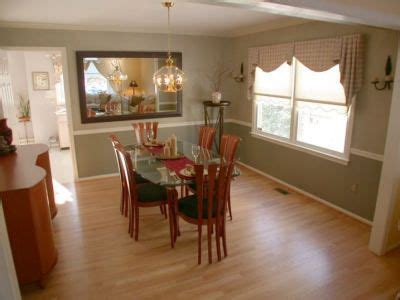 dining room hardwood floors chair rail and crown moldings and two tone paint mom s board in