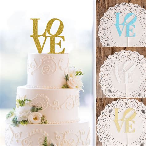 2017 New Love Cake Toppers Personalized Wedding Cake