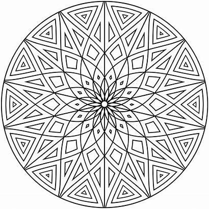 Coloring Geometric Pages Pattern Circle Diamond Shape