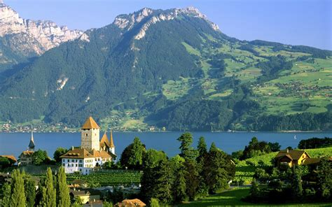 Spiez Castle Switzerland Wallpaper