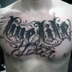 75 Tattoo Lettering Designs For Men - Manly Inscribed Ink ...