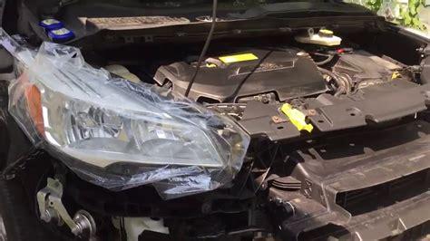 ford escape radiator shutter assembly installation