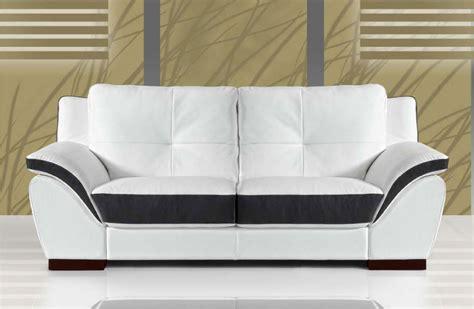 canape cuir italien canape 2 places cuir blanc et noir sofamobili