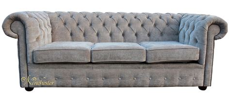 Chesterfield Settees by Chesterfield 3 Seater Settee Sofa Bed Ritz Mink Fabric