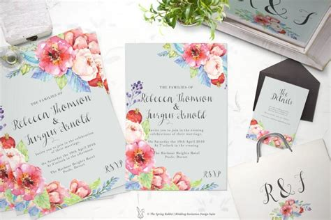printable wedding invitation suite customizable wedding