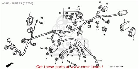 honda cb750 nighthawk 1991 m canada mkh wire harness cb750 schematic partsfiche