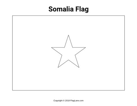 Free African Flag Coloring Pages