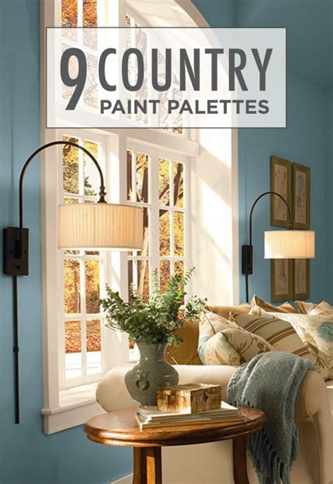 country paint palettes featuring cozy color