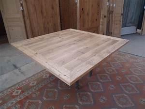Plateau De Table : fabrication table en vieux bois ~ Teatrodelosmanantiales.com Idées de Décoration