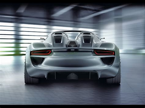 2018 Porsche 918 Spyder Concept Rear 1600x1200 Wallpaper