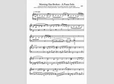 Morning Has Broken Arrangement for Piano MuseScorecom