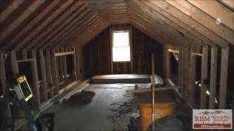 Basement Remodeling Before And After by Finishing An Attic By Rbm Remodeling Solutions