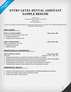 entry level dental assistant resume sample dentist With dental assistant resume examples