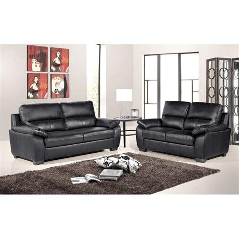 artena high back italian inspired black leather sofa