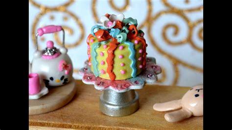 birthday cake polymer clay miniature   tutorial