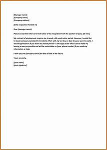 Image Result For Formal Resignation Letter Sample Without