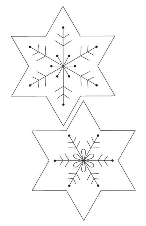paper snowflakes templates christmas sewing patterns