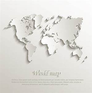 Paper world map creative design vector Free vector in ...