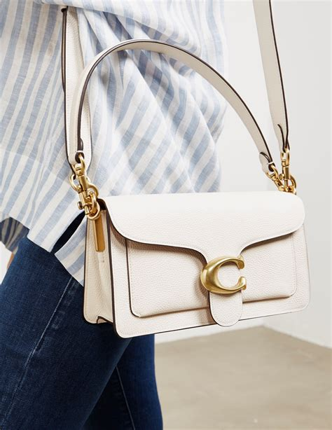 coach leather tabby  shoulder bag white lyst