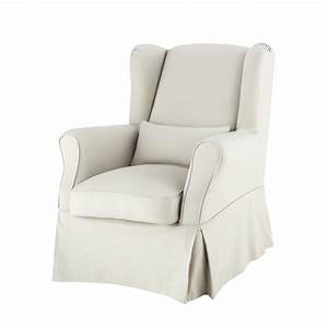 Housse De Fauteuil : housse de fauteuil en coton mastic cottage maisons du monde ~ Teatrodelosmanantiales.com Idées de Décoration