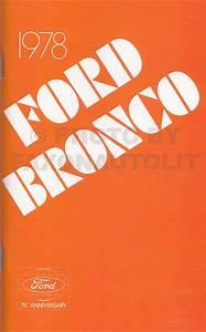 1978 Ford Truck Repair Shop Manual 5 Volume Set Original Plus Vans Bronco