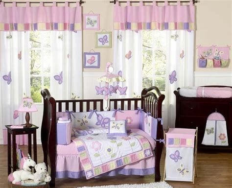 butterfly crib bedding pink and purple butterfly baby bedding 9pc crib set only