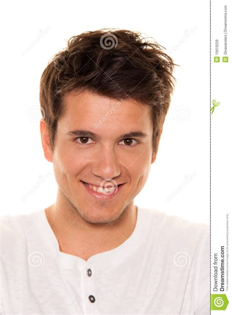 young nice man friendly smile portrait royalty