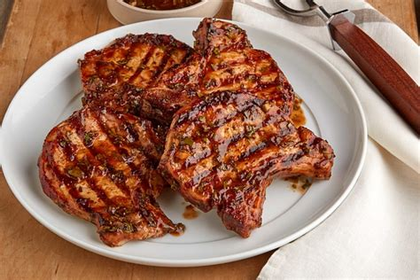 bbq pork chops cilantro bbq grilled pork chops kraft recipes