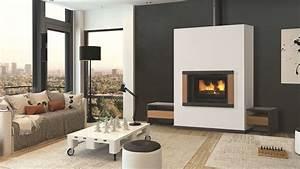 Poele A Bois Moderne : cheminee moderne bois ~ Dailycaller-alerts.com Idées de Décoration