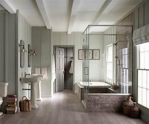 des designs de salle de bain dans une maison de campagne With salle de bain campagne