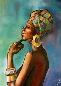 """African Princess"" african art, oil painting – navarro art ..."