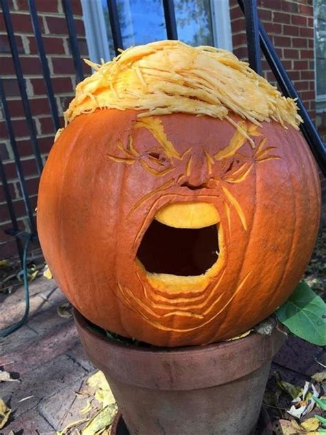 funny pumpkin trump donald carvings pumpkins halloween trumpkin meme memes trumpkins craze present latest scary again source lol
