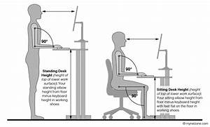The Correct Sizes Of Computer Desk To Person With